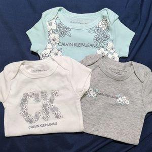 3-Piece Calvin Klein Baby Onesies